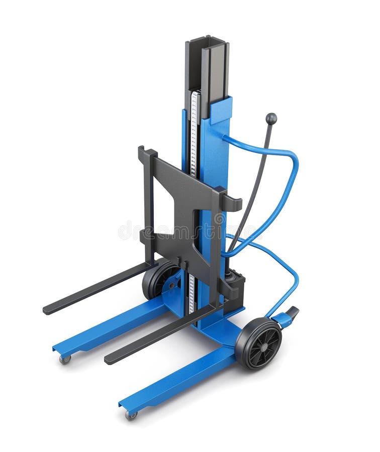 蓝色铲车 3d例证 向量例证