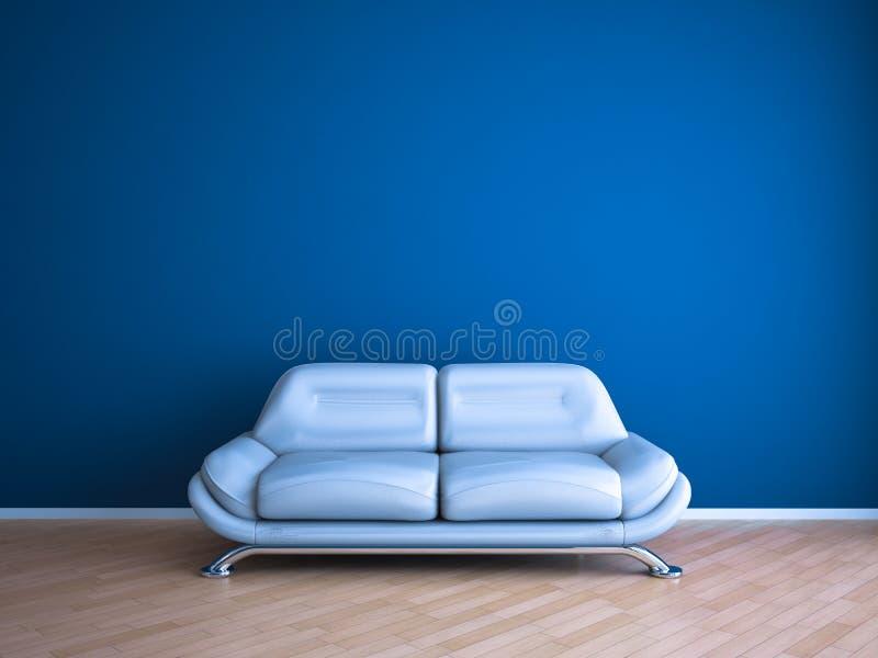 蓝色银 向量例证