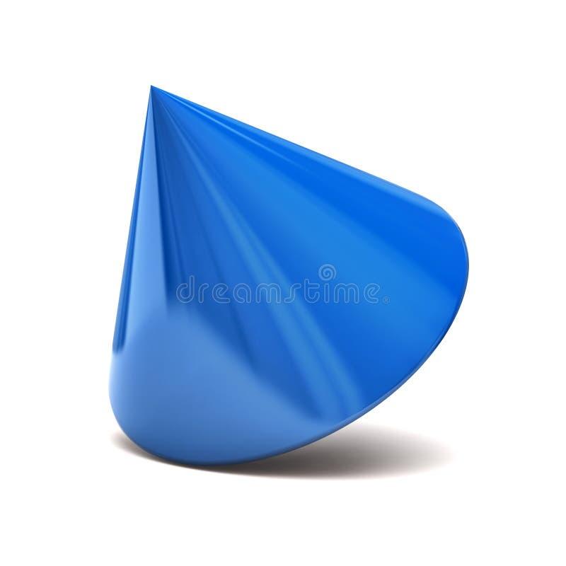 蓝色锥体 向量例证