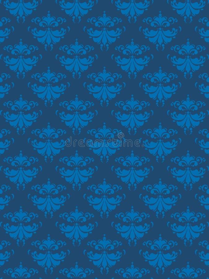蓝色锦缎eps模式 库存例证
