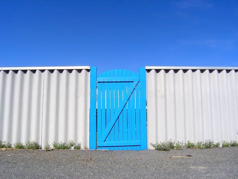蓝色门天堂 免版税库存照片