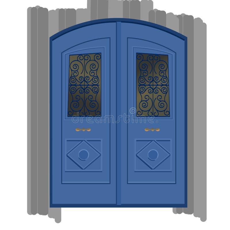 蓝色门 免版税库存图片