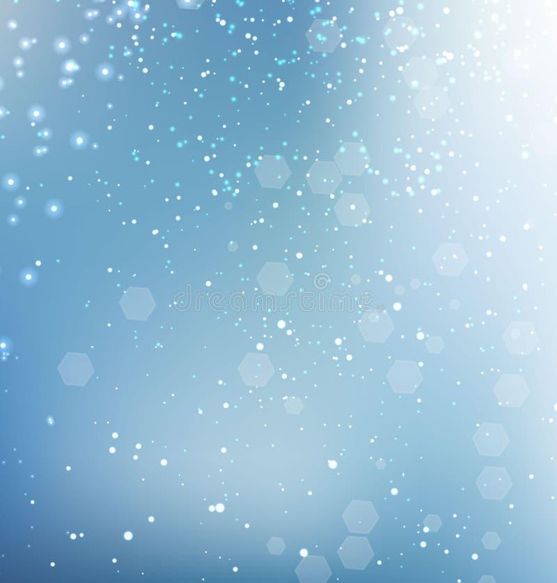 蓝色闪烁的闪闪发光背景 皇族释放例证