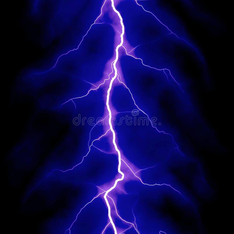蓝色闪电 皇族释放例证