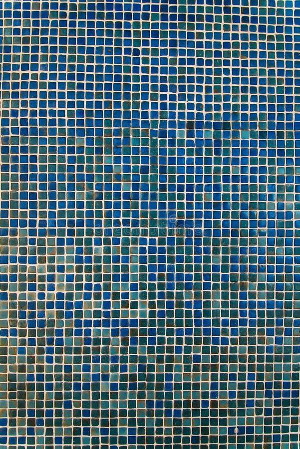 蓝色陶瓷砖背景样式/纹理 库存图片