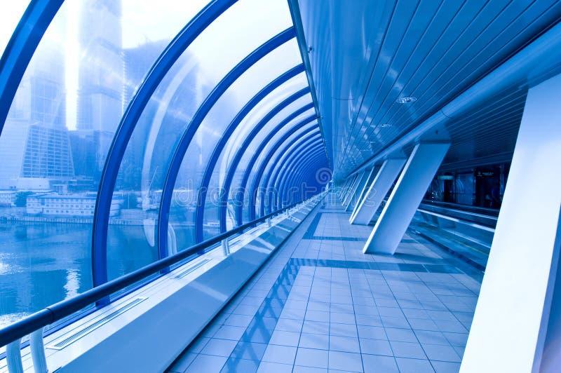 蓝色隧道 库存图片