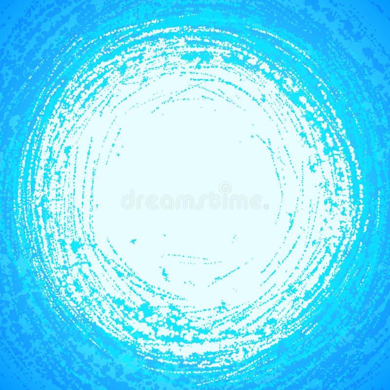 蓝色难看的东西星期日反映在抽象水中 库存例证