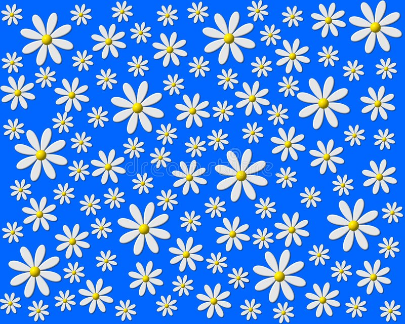 蓝色雏菊 皇族释放例证