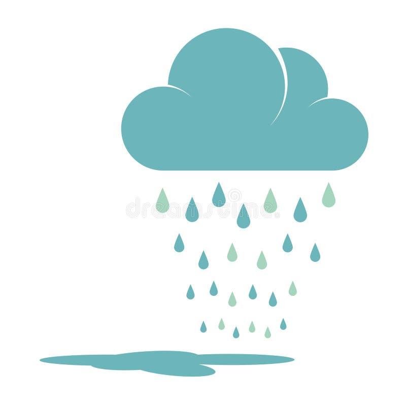 蓝色雨云 向量例证