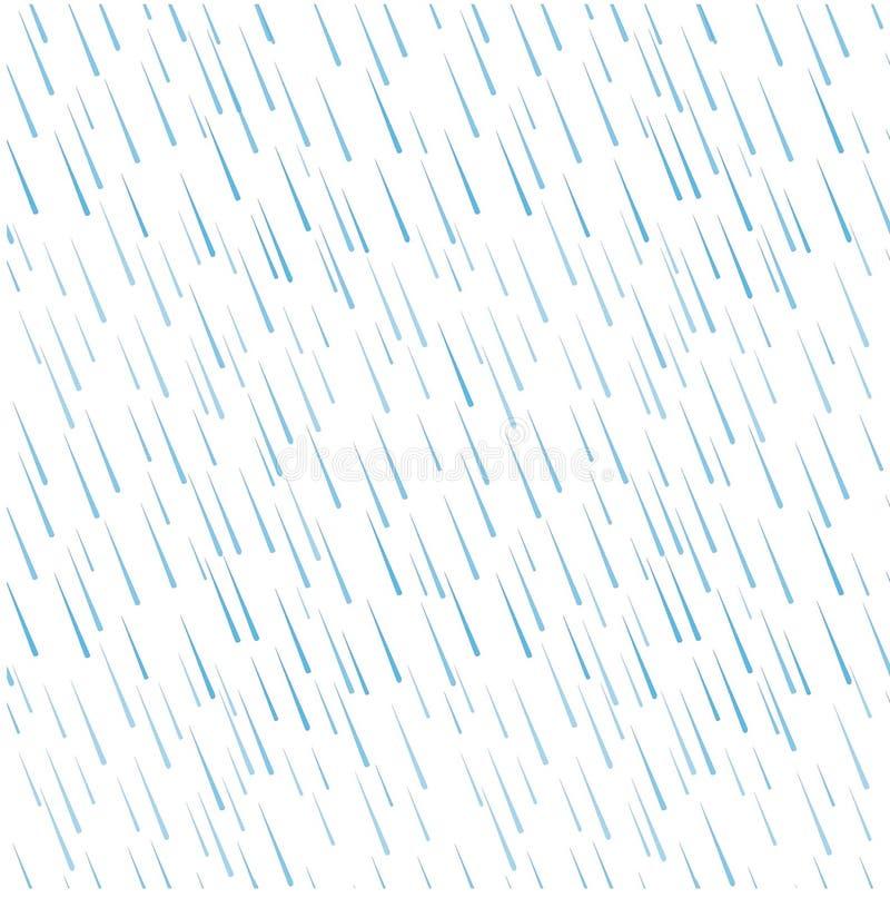 蓝色雨水的无缝的样式在白色下降 皇族释放例证