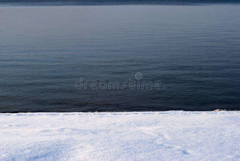 蓝色雪水 库存图片