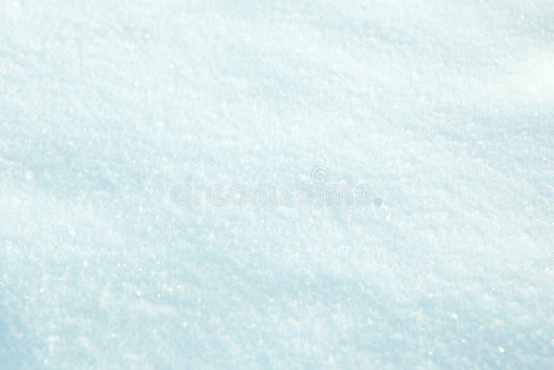 蓝色雪纹理  免版税库存照片
