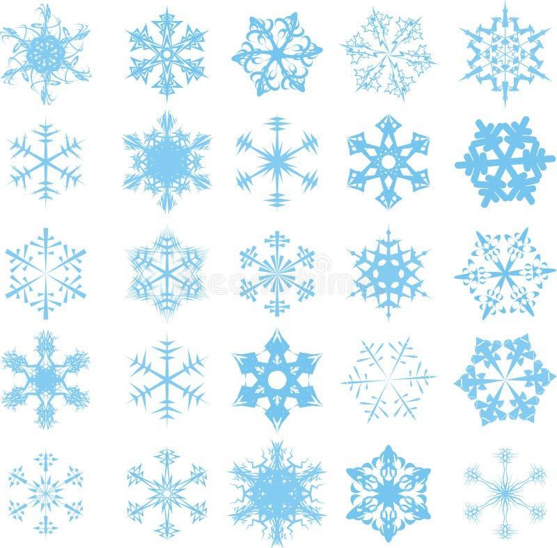 蓝色雪花 向量例证