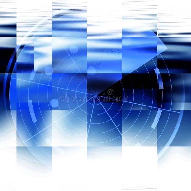 蓝色雷达 库存例证