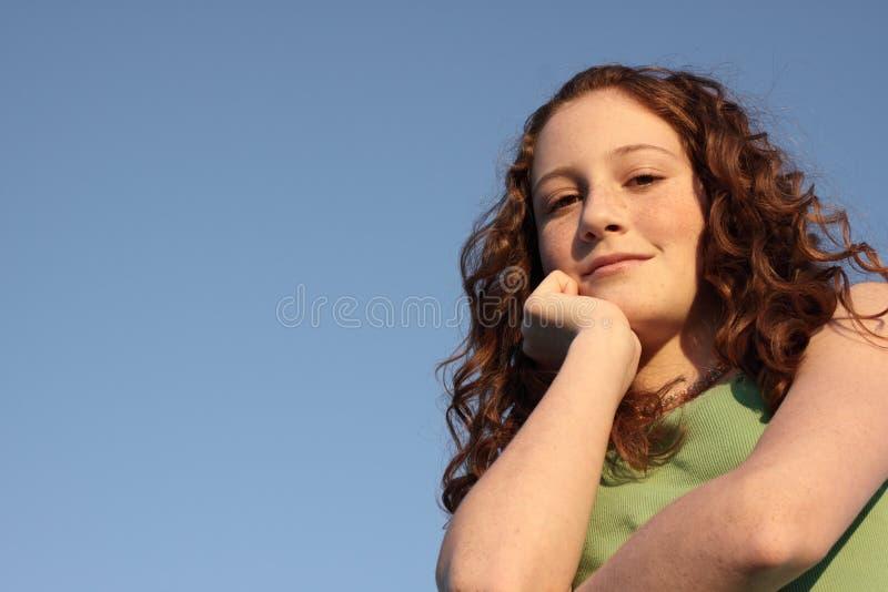 蓝色青少年的年轻人 库存照片