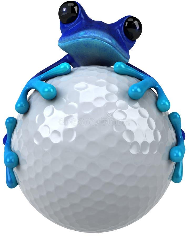 蓝色青蛙 库存例证
