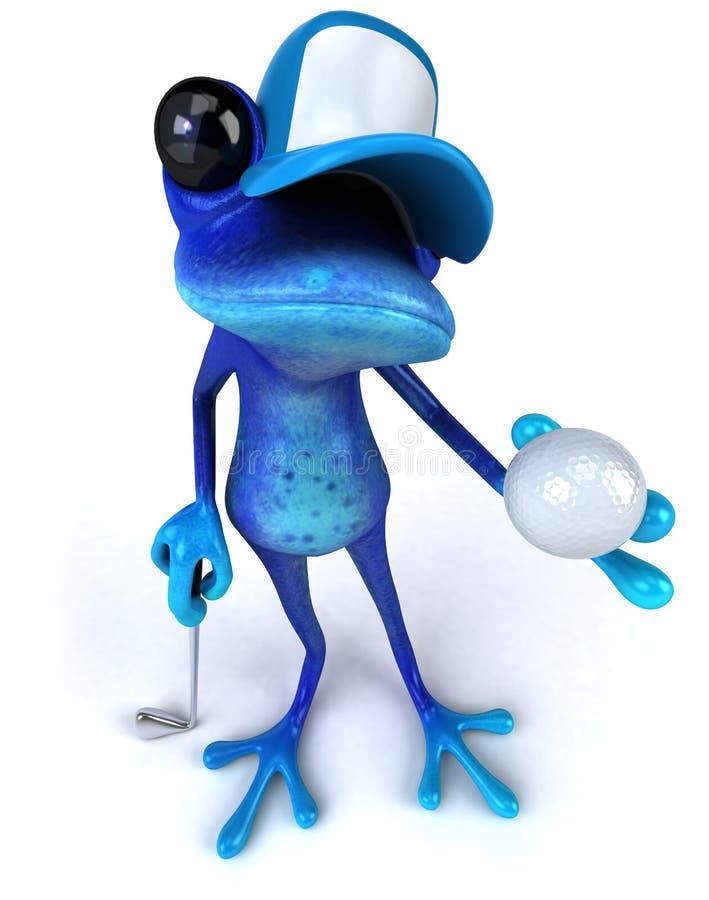 蓝色青蛙 向量例证