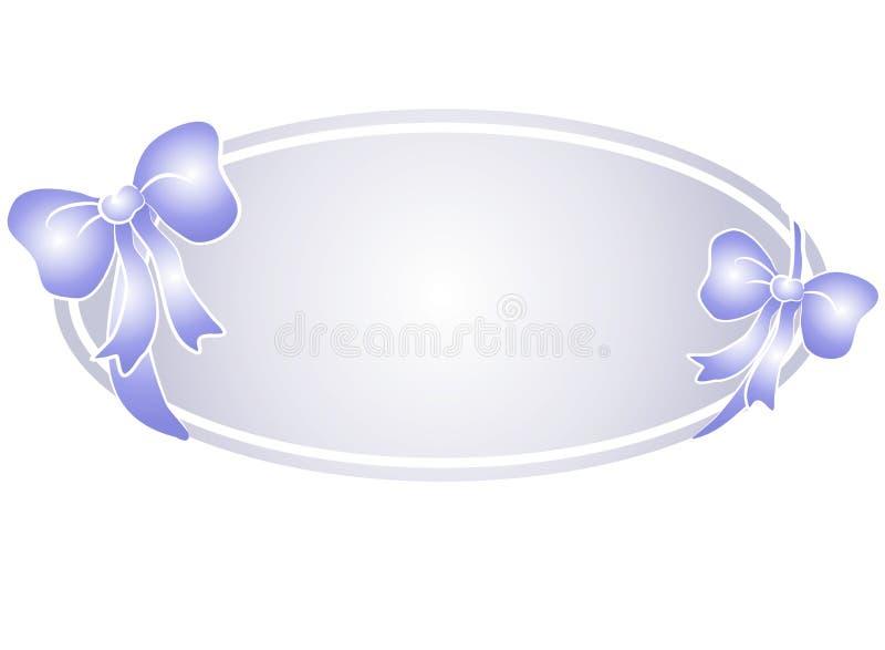 蓝色鞠躬徽标丝带万维网 皇族释放例证