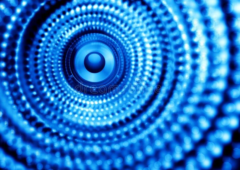 蓝色音乐海报 向量例证