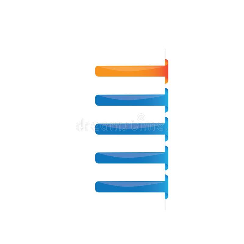 蓝色项目现代定位 向量例证