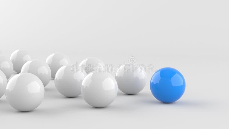 蓝色领导球 向量例证