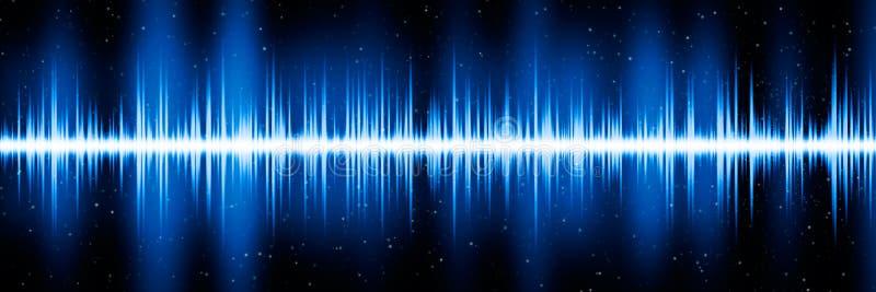 蓝色频率图 皇族释放例证