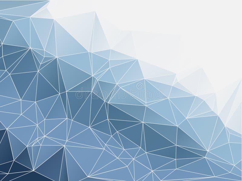 蓝色颜色摘要多角形几何 免版税图库摄影