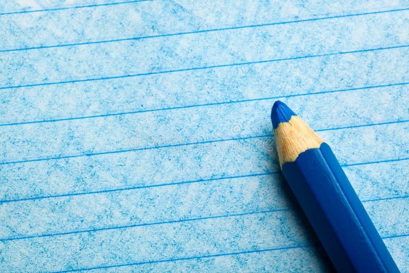 蓝色颜色着色铅笔 免版税图库摄影