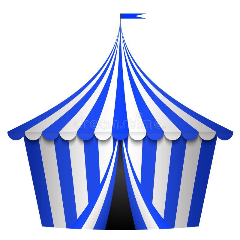 蓝色马戏场帐篷 皇族释放例证