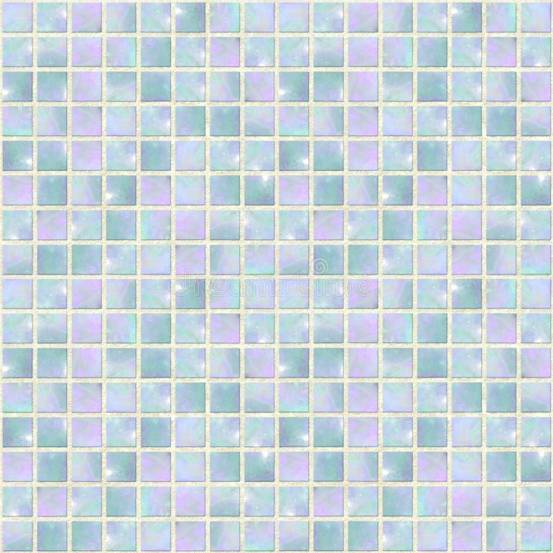 蓝色马赛克蛋白石珠色无缝 库存图片
