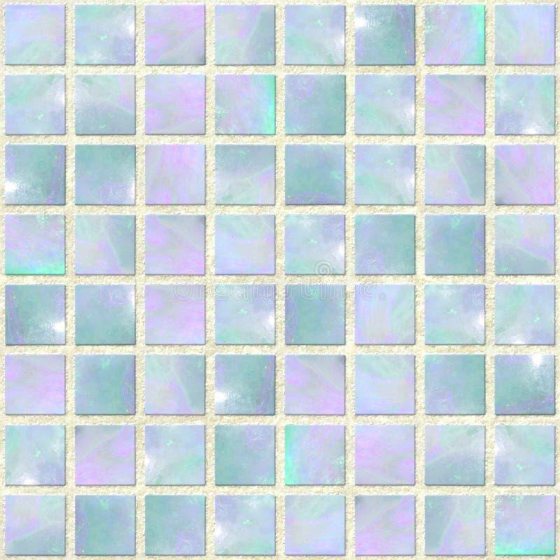 蓝色马赛克蛋白石seamles 免版税库存照片
