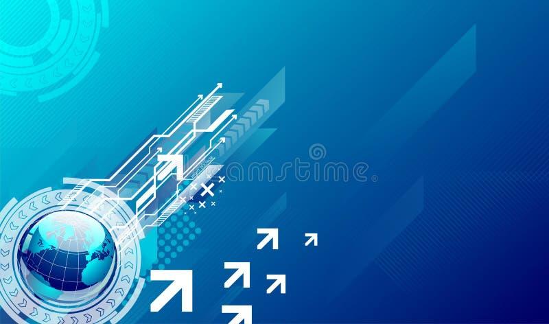 蓝色高技术背景 免版税库存照片