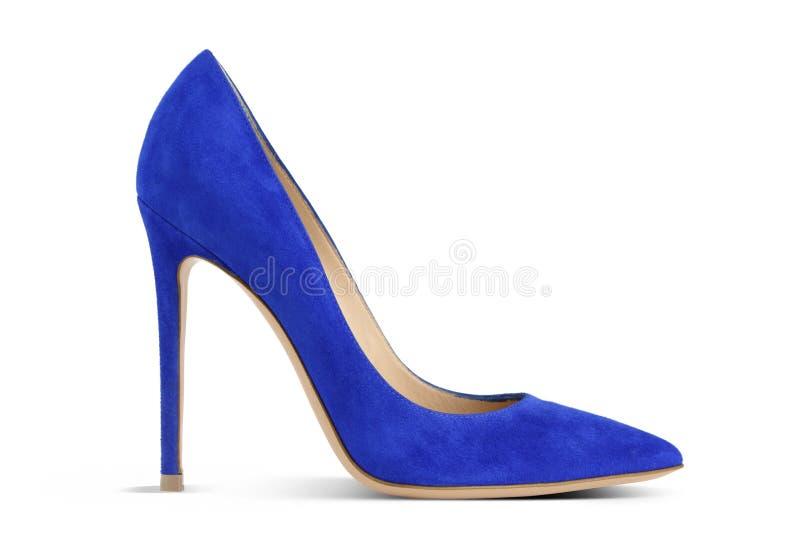蓝色高跟鞋 免版税图库摄影