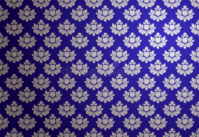 蓝色魅力模式银向量 向量例证
