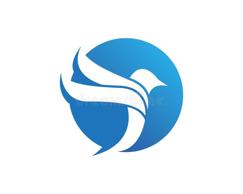 蓝色鸟商标设计传染媒介 皇族释放例证