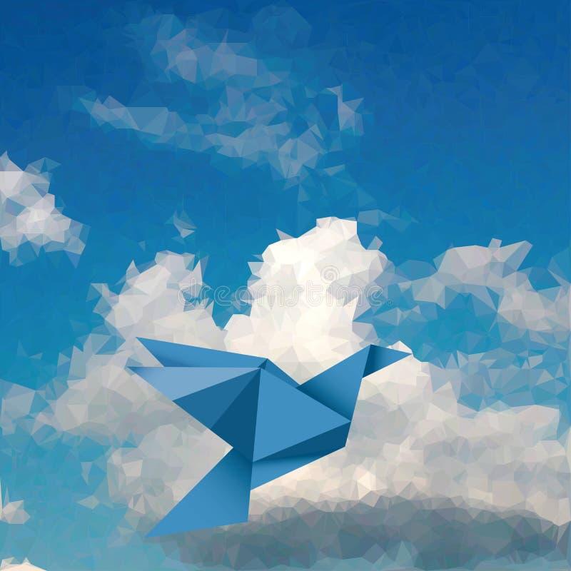 蓝色鸟天空 皇族释放例证