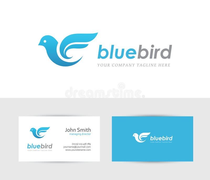 蓝色鸟徽标 向量例证
