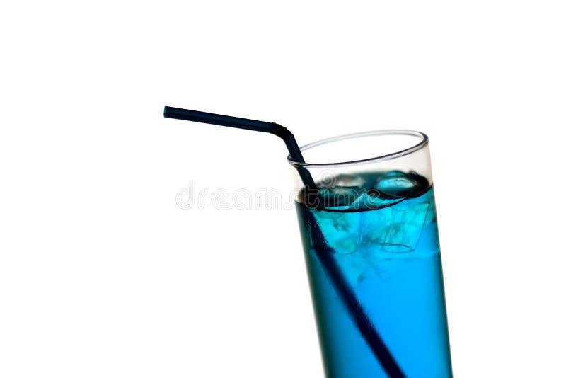 蓝色鸡尾酒 免版税库存照片