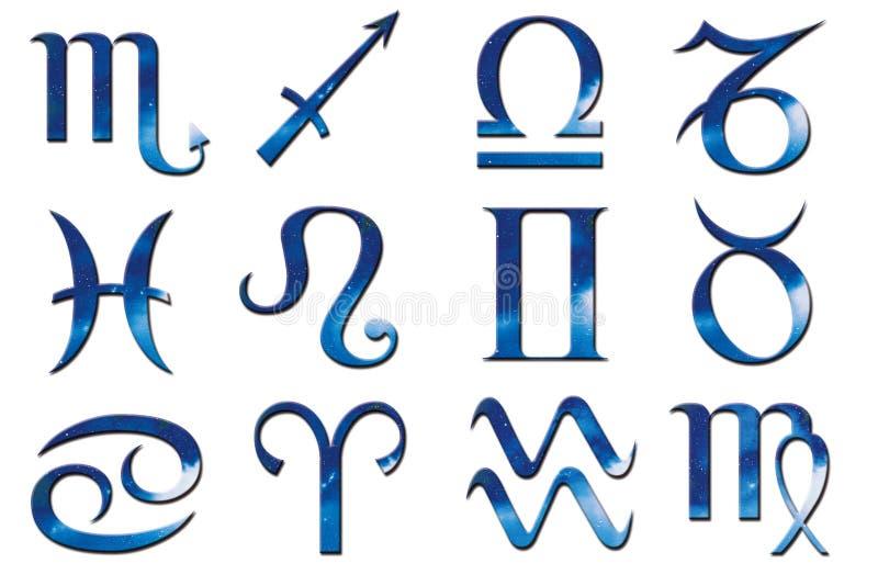 Download 蓝色黄道带 库存例证. 图片 包括有 宝瓶星座, 占卜, 白羊星座, 双鱼座, 例证, ataturk, 天蝎座 - 300207