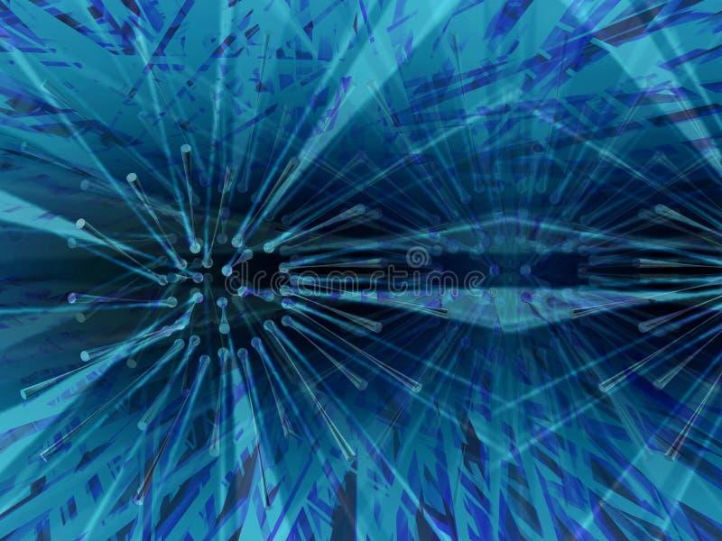 蓝色黑暗的扩散 向量例证