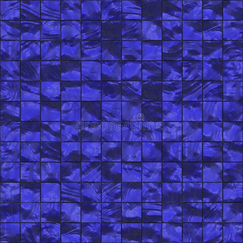 蓝色黑暗的无缝的瓦片 皇族释放例证