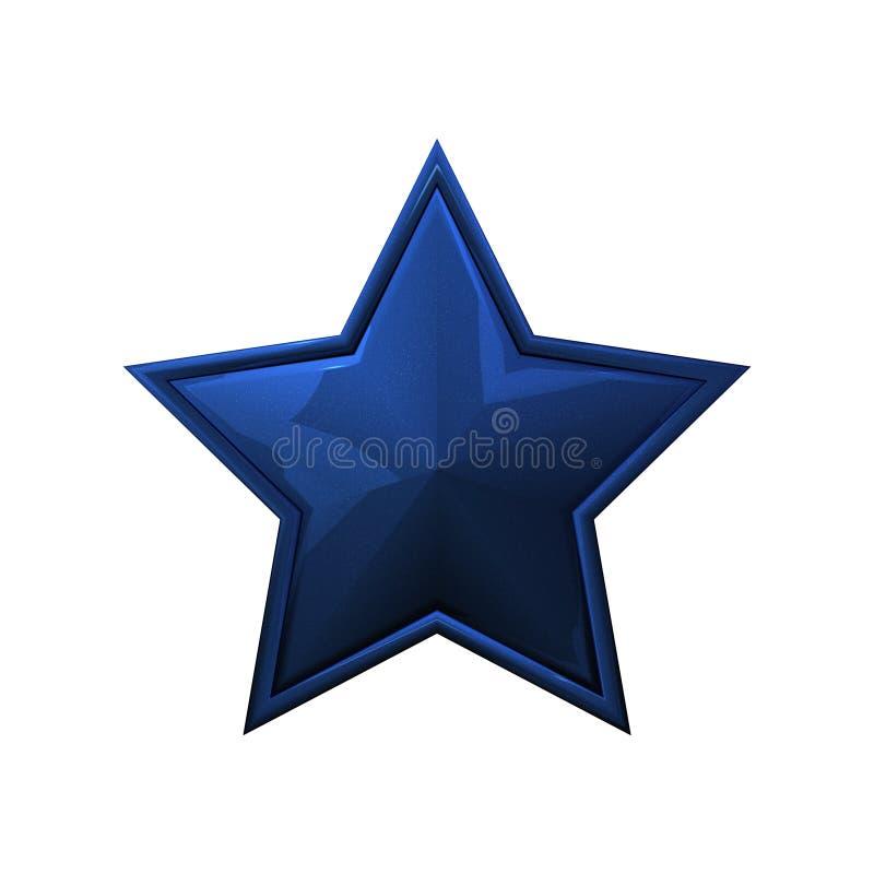 蓝色黑暗的星形 库存图片