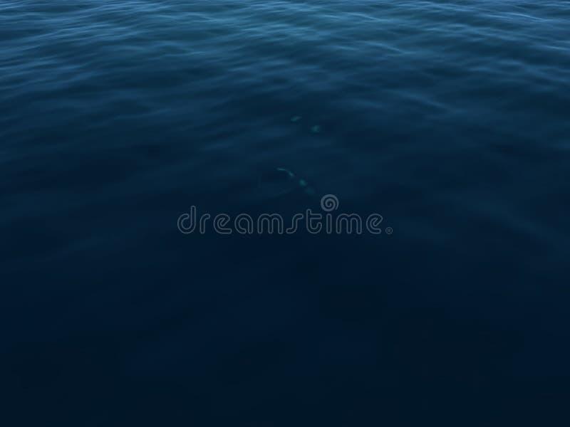 蓝色黑暗的水面 库存图片