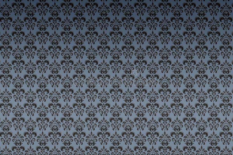 蓝色黑暗的纹理墙纸 向量例证