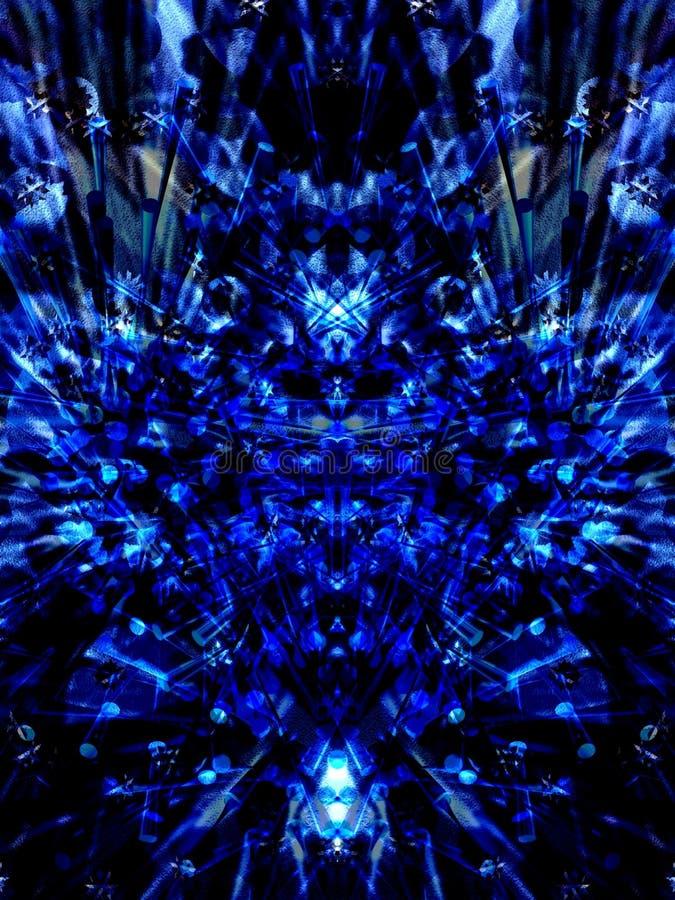 蓝色黑暗 库存例证