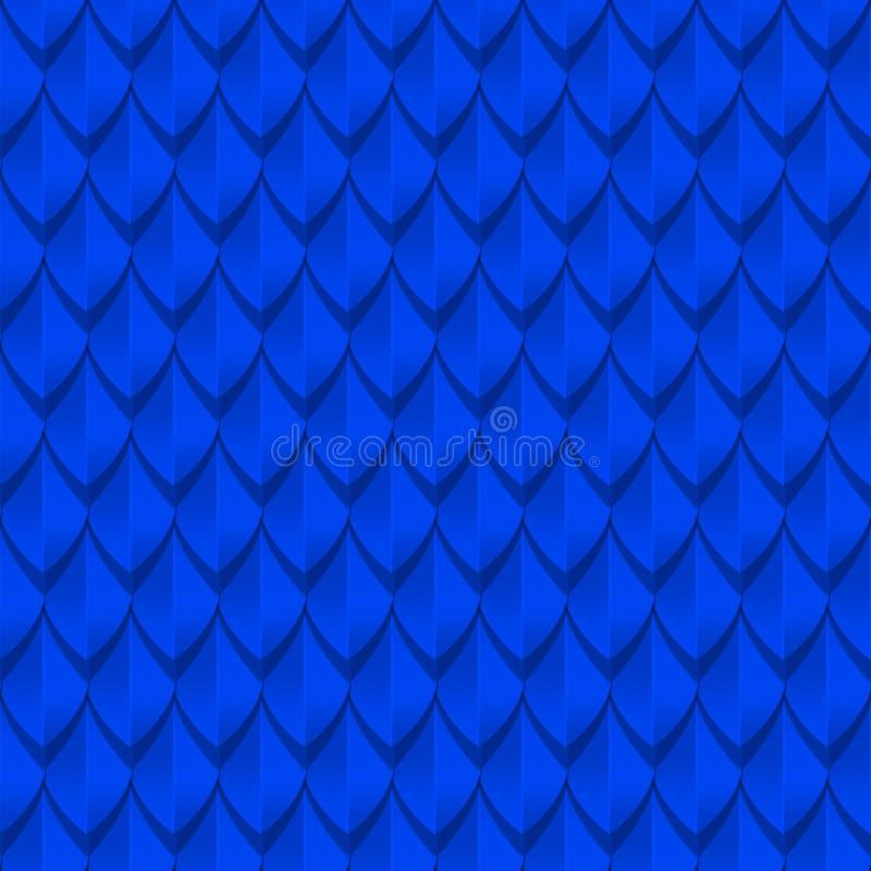 蓝色龙称无缝的背景纹理 库存例证