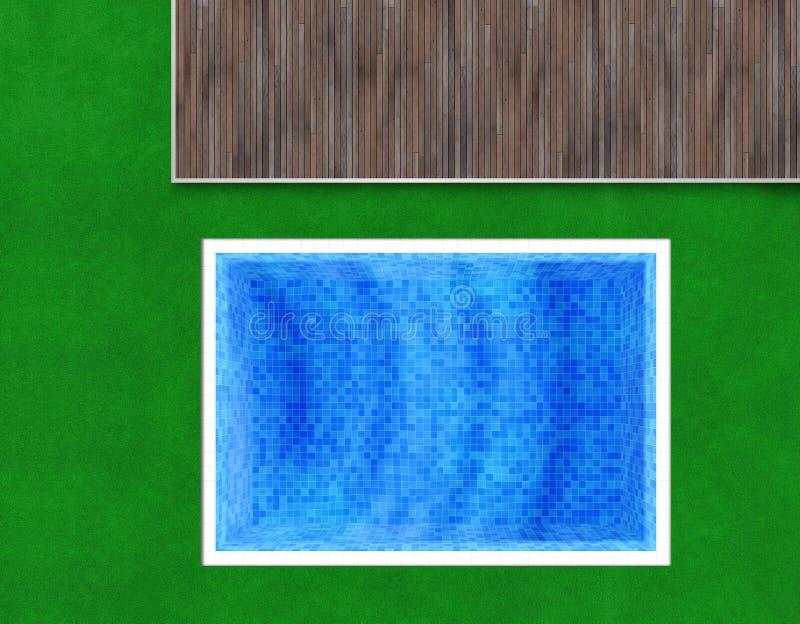 蓝色,绿色和棕色背景 皇族释放例证