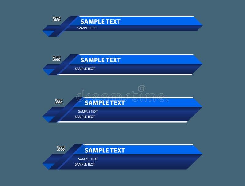 蓝色更低的第三副横幅 免版税库存图片