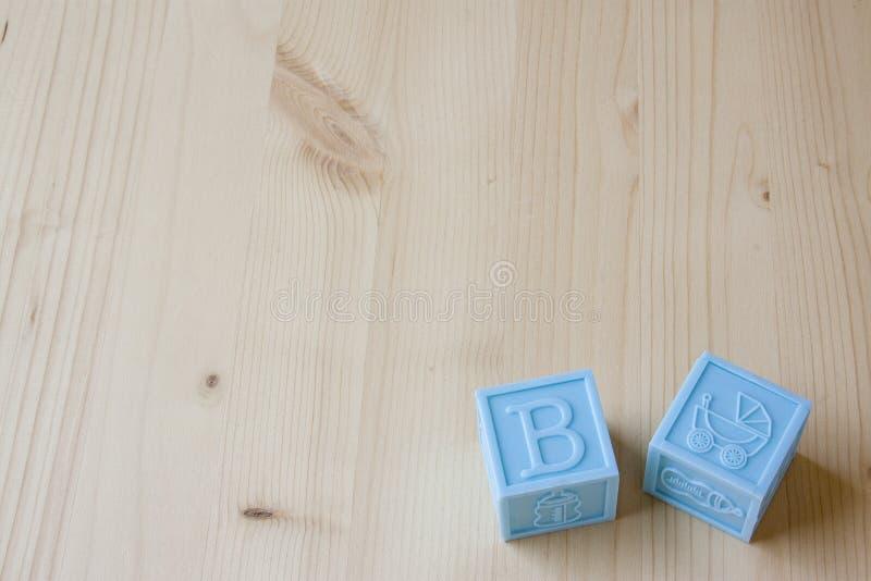 蓝色婴儿块 免版税库存照片