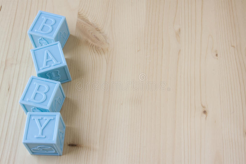 蓝色婴儿块 免版税库存图片